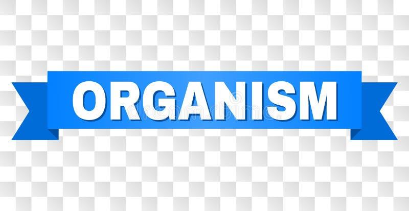 Cinta azul con el subtítulo del ORGANISMO libre illustration
