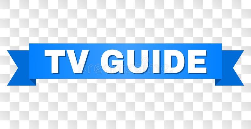 Cinta azul con el texto de la GUÍA de la TV stock de ilustración