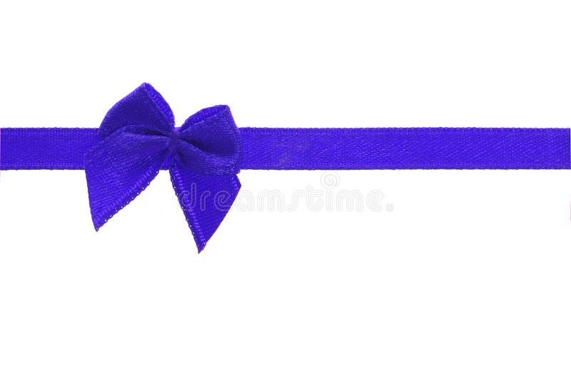 Cinta azul decorativa del arqueamiento foto de archivo libre de regalías