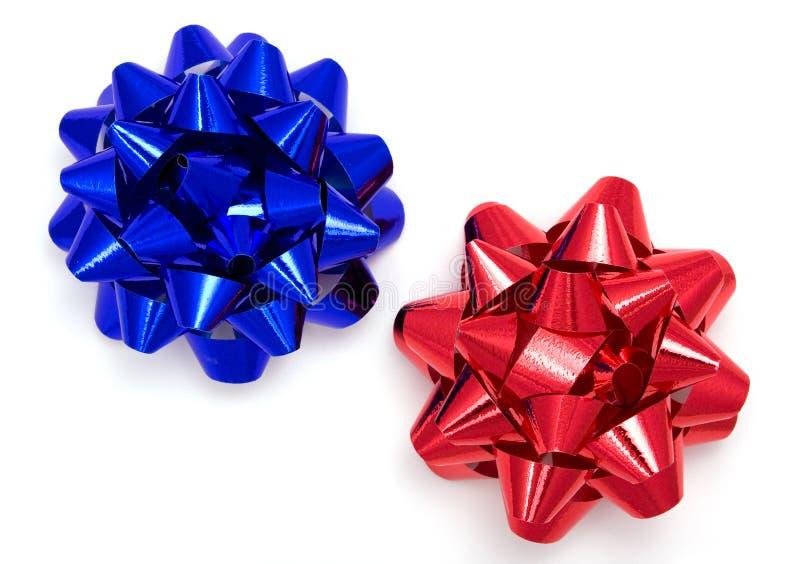 Cinta azul y roja fotos de archivo libres de regalías