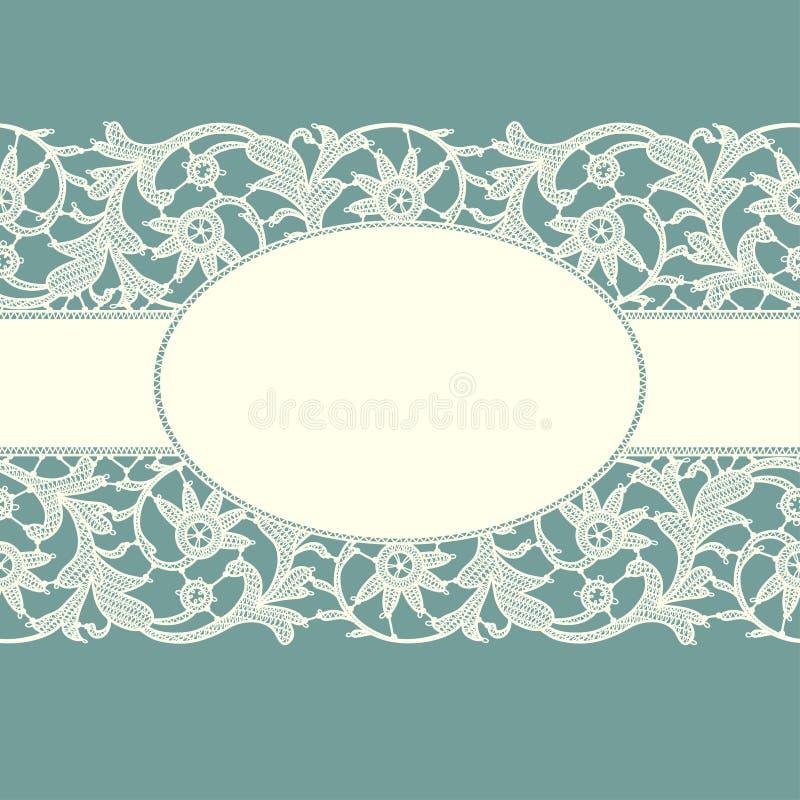 Cinta blanca del cordón stock de ilustración