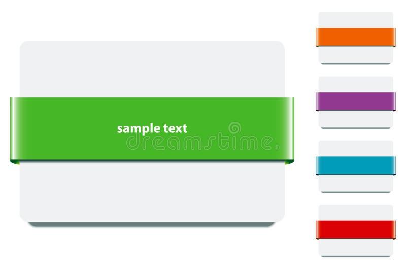 Cinta con colores - vector de la bandera del EPS ilustración del vector