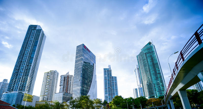 Cinta costera 3 panama buildings royalty free stock images