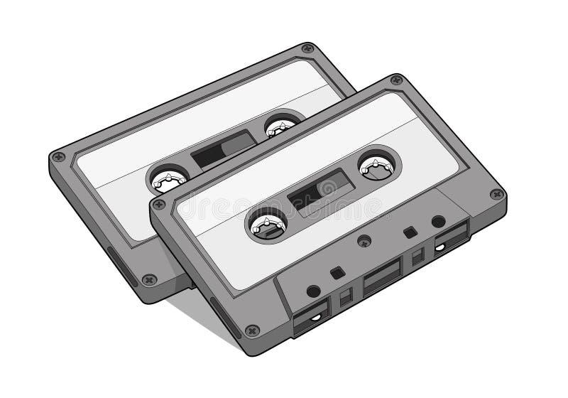 Cinta de audio stock de ilustración