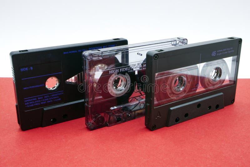 Cinta de audio vintage Equipo estéreo hi-fi con cinta anticuado fotos de archivo
