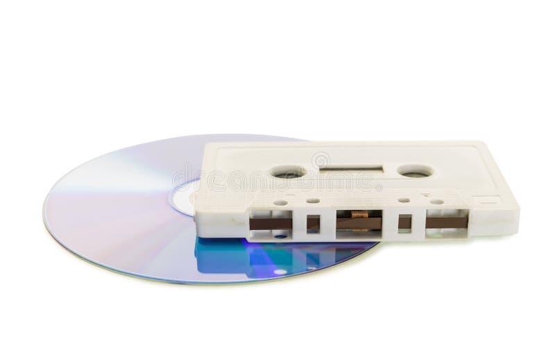 Cinta de casete con DVD fotografía de archivo