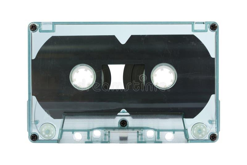 Cinta de casete transparente aislada en blanco fotos de archivo libres de regalías