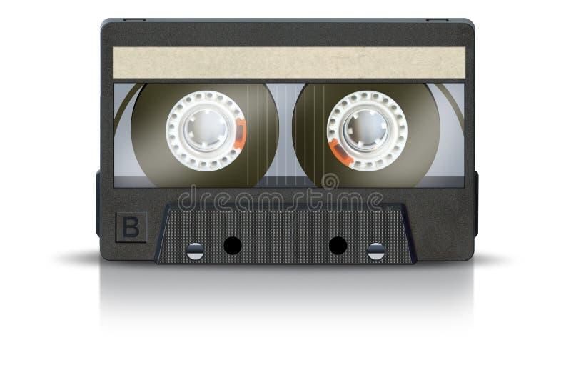Cinta de cassette en blanco fotos de archivo