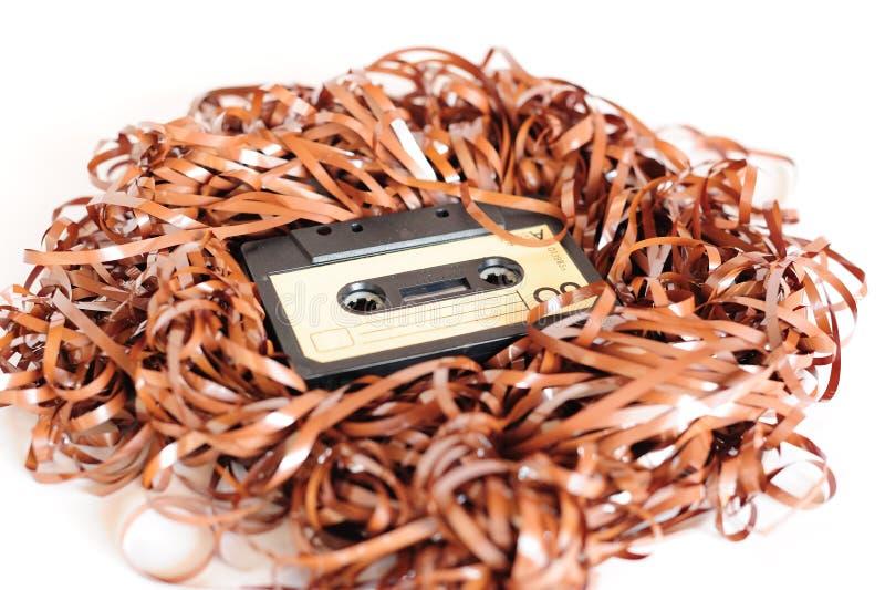 Cinta de cassette retra fotografía de archivo libre de regalías