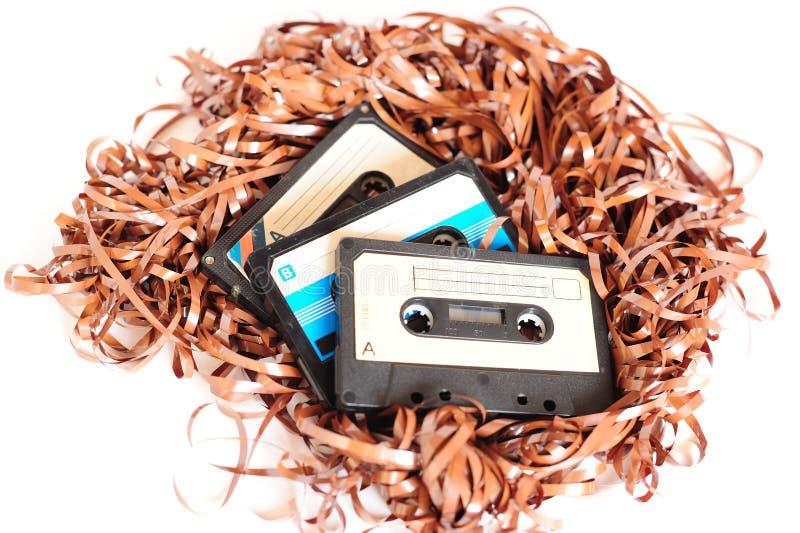 Cinta de cassette retra imagen de archivo libre de regalías