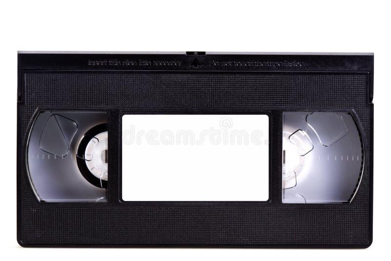 Cinta de cinta de video en blanco fotografía de archivo