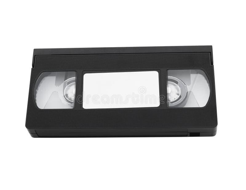 Cinta de cinta de video vieja con la etiqueta en blanco imágenes de archivo libres de regalías