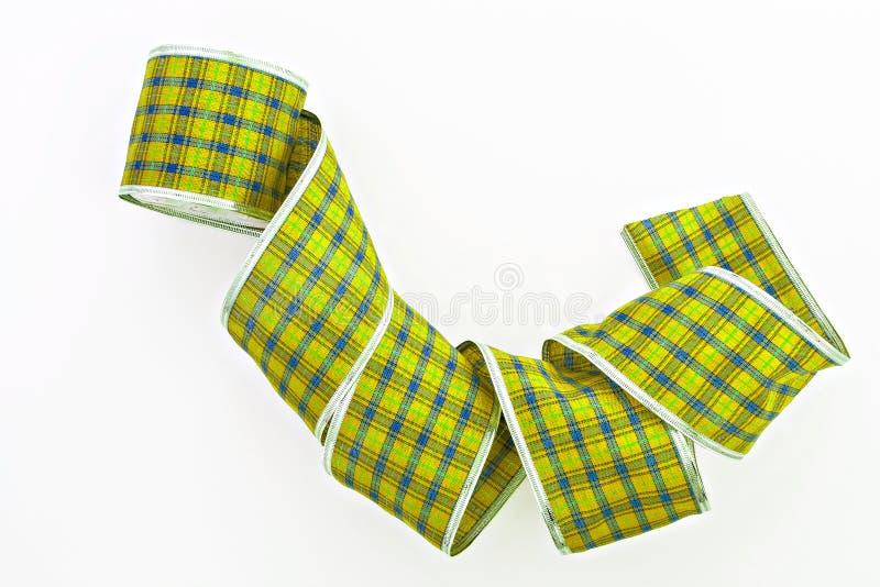 cinta de embalaje decorativa verde aislada en una jaula fotos de archivo libres de regalías