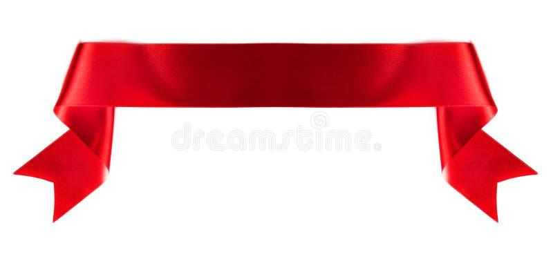 Cinta de la bandera en blanco imagen de archivo libre de regalías