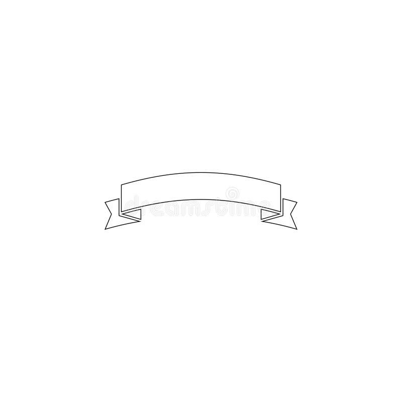 Cinta de la bandera Icono plano del vector stock de ilustración