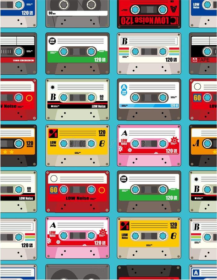 Cinta de la música inconsútil ilustración del vector