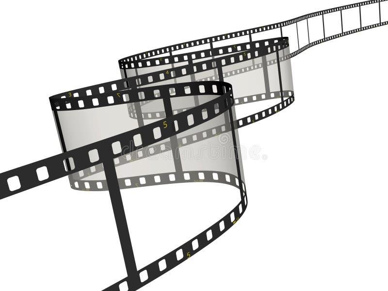 Cinta de la película ilustración del vector