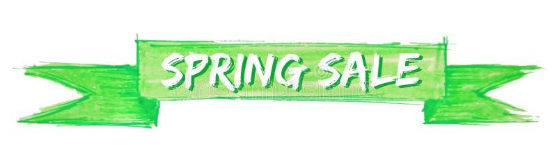 cinta de la venta de la primavera stock de ilustración