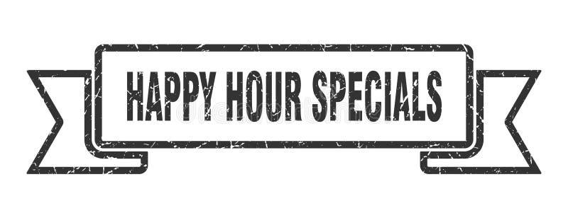 cinta de los specials de la hora feliz ilustración del vector