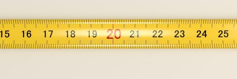 Cinta de medición ilustración del vector