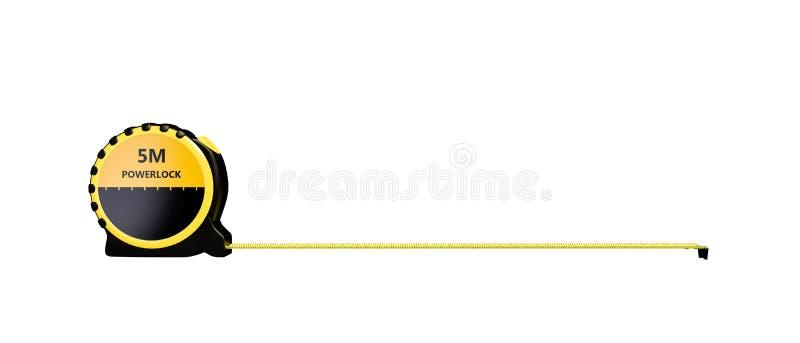 Cinta de medición aislada en el fondo blanco ilustración del vector