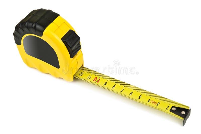 Cinta de medición amarilla foto de archivo libre de regalías