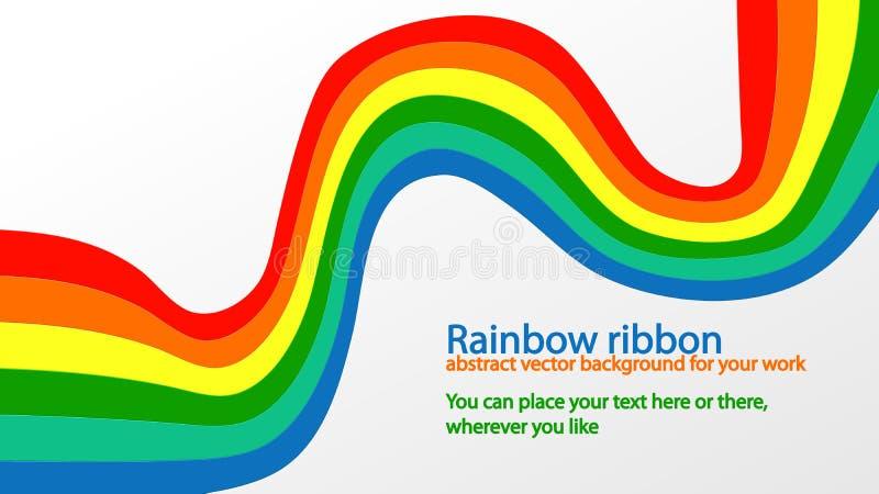 Cinta del arco iris imagen de archivo libre de regalías