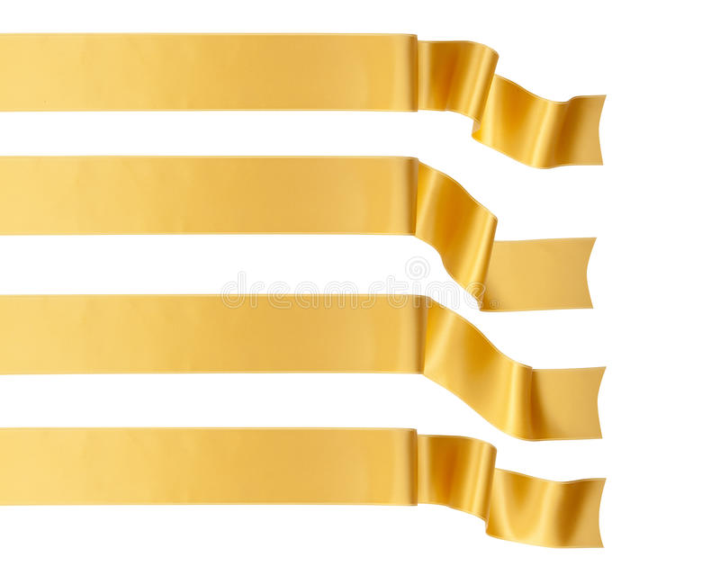Cinta del oro imagen de archivo