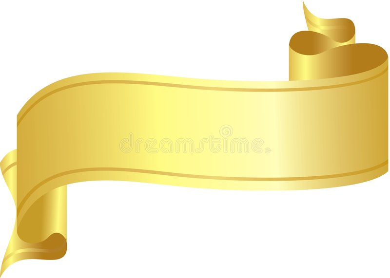 Cinta del oro ilustración del vector