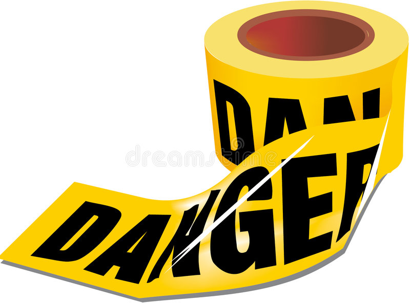 Cinta del peligro stock de ilustración