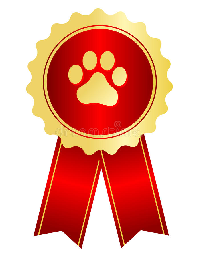 Cinta del premio de la exposición canina stock de ilustración