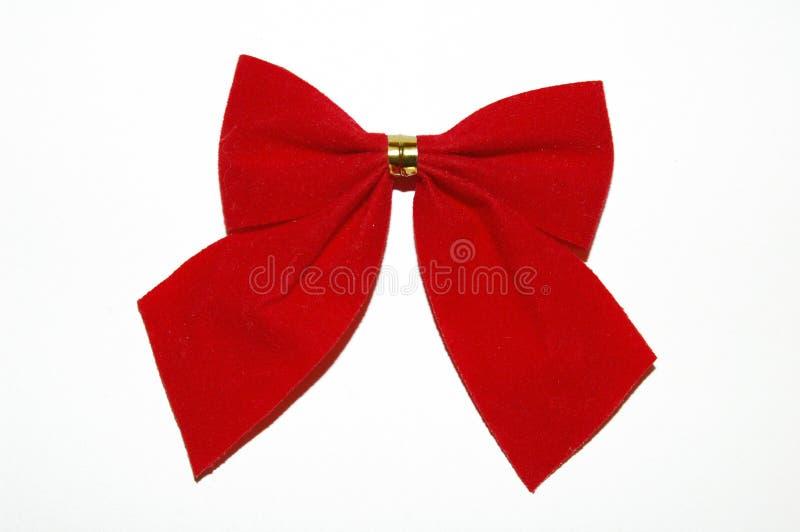 Cinta del rojo de la Navidad foto de archivo libre de regalías