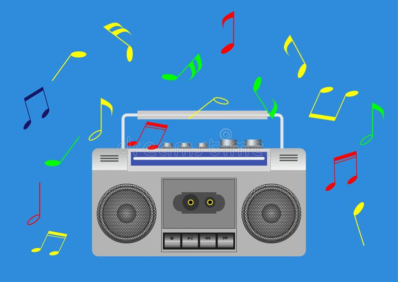 Cinta del símbolo de música imagen de archivo