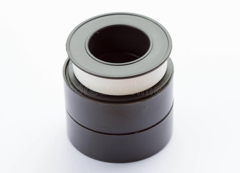 cinta del sello del hilo de tubo fotos de archivo