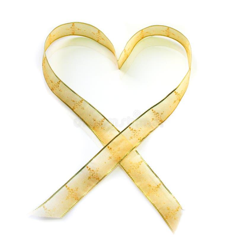 Cinta en forma de corazón imagen de archivo