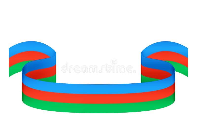 Cinta en los colores de la bandera de Azerbaijan en un backgr blanco libre illustration
