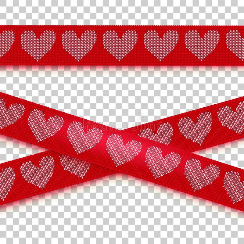 Cinta hecha punto de la precaución del corazón libre illustration