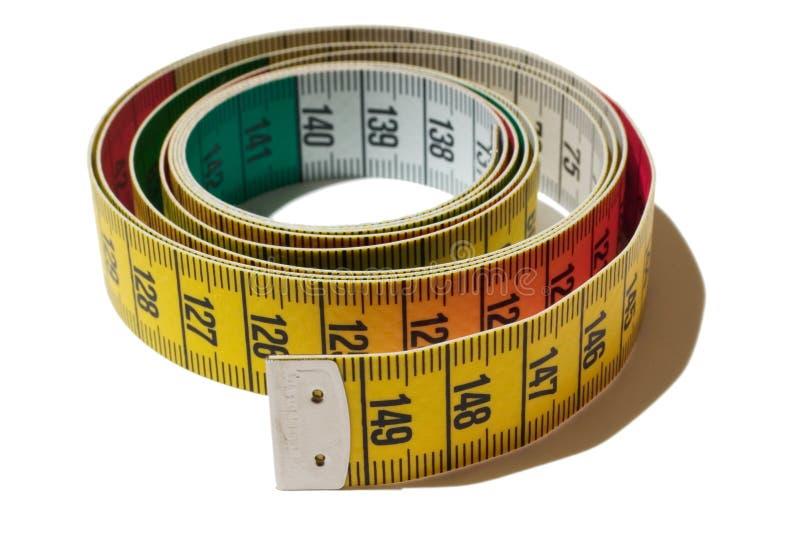 Cinta métrica en espiral imagen de archivo libre de regalías