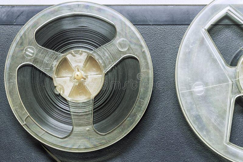 Cinta magnética para la grabadora del carrete imagenes de archivo