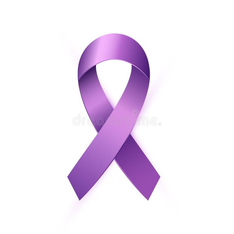 Cinta púrpura realista de la conciencia al mundo Lupus Day libre illustration
