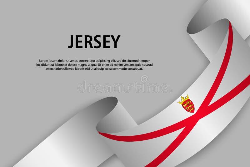 Cinta que agita con la bandera del jersey, libre illustration