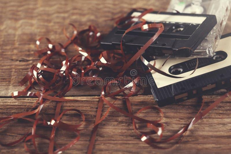 Cinta retra de los casetes imagen de archivo libre de regalías