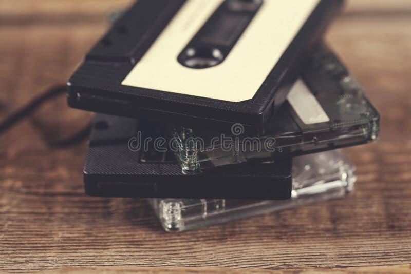 Cinta retra de los casetes fotografía de archivo