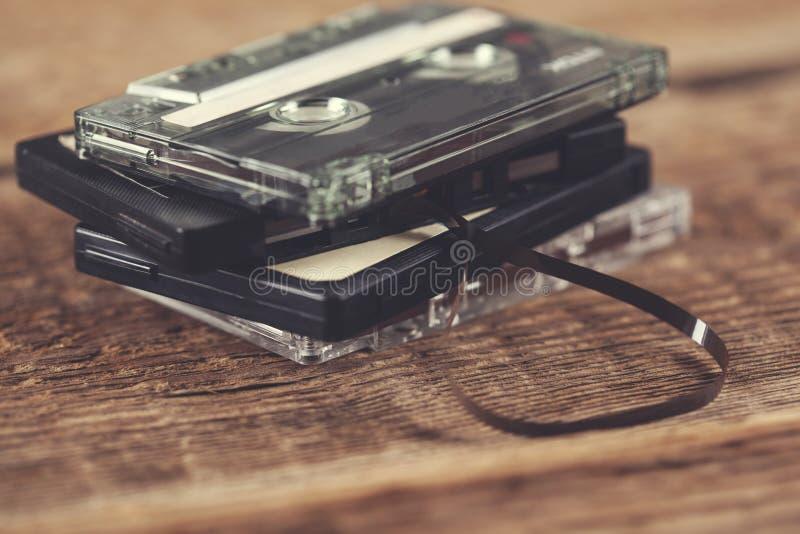 Cinta retra de los casetes fotografía de archivo libre de regalías
