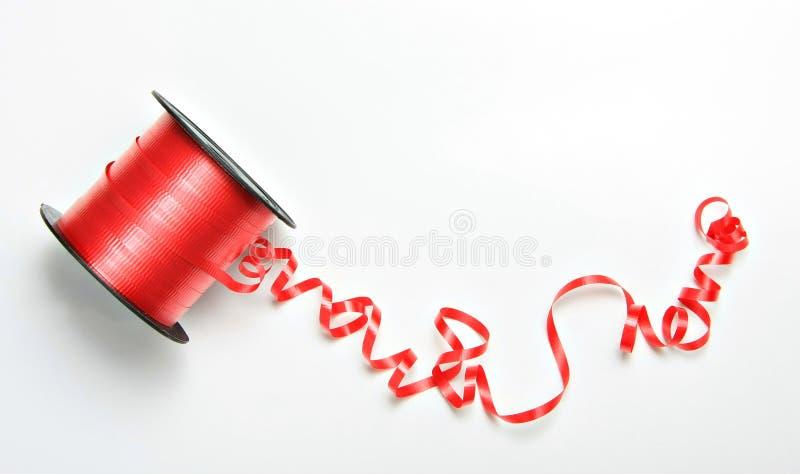 Cinta rizada roja fotografía de archivo
