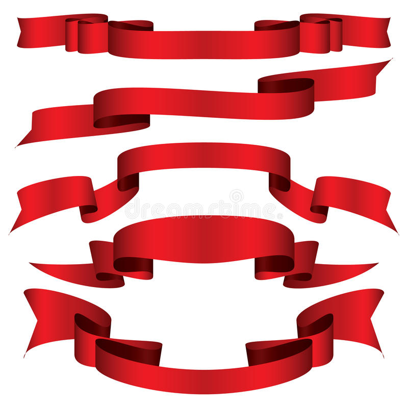 Cinta roja stock de ilustración