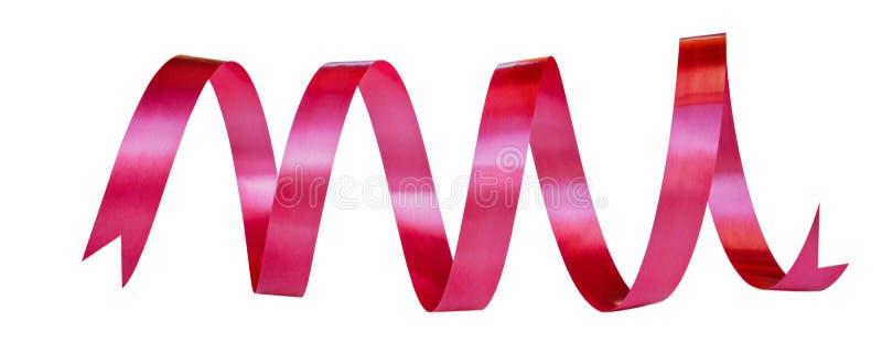 Cinta roja aislada en el fondo blanco imagen de archivo
