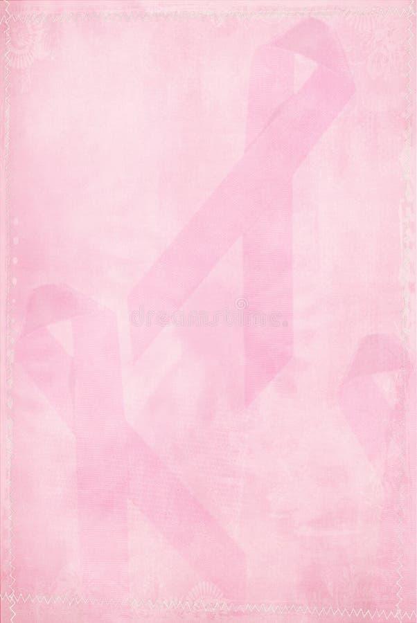 Cinta rosada descolorada ilustración del vector