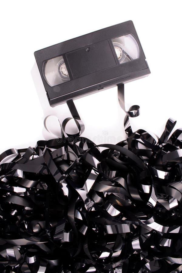 Cinta video quebrada foto de archivo libre de regalías
