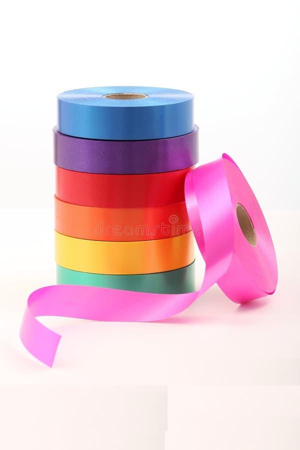 Cintas coloridas fotografía de archivo libre de regalías